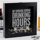 Beer Quotes Personalized Beer Cap Shadow Box - 17025