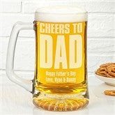 Cheers! To Him Personalized 25oz. Beer Glass