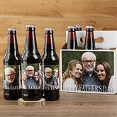 Cheers To Dad Personalized Beer Bottle Labels & Bottle Carrier