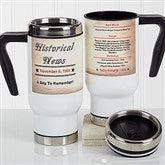 The Day You Were Born Personalized Commuter Travel Mug - 17047