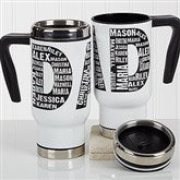 Repeating Name For Him Personalized Commuter Travel Mug - 17050