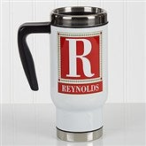 Letter Perfect Personalized Commuter Travel Mug - 17051