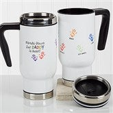 Hands Down Personalized Commuter Travel Mug - 17058