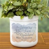 In Memory Personalized Outdoor Flower Pot - 17061