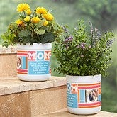 MOM Photo Collage Personalized Outdoor Flower Pot - 17062