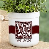 Floral Monogram Personalized Outdoor Flower Pot - 17064