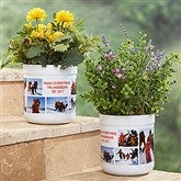 Picture Perfect Personalized Outdoor Flower Pot - 17065