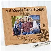Latitude & Longitude Location Personalized Picture Frame- 4 x 6 - 17068-S