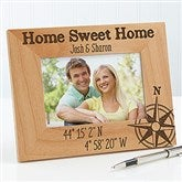 Couple Latitude & Longitude Location Personalized Picture Frame- 4 x 6 - 17070-S