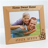 Couple Latitude & Longitude Location Personalized Picture Frame- 8 x 10 - 17070-L