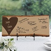 Wedding Guest Book Personalized Basswood Planks- Large - 17072-L