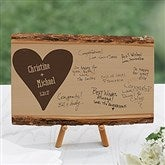 Wedding Guest Book Personalized Basswood Planks- Small - 17072-S