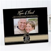 Cheers To Then & Now Anniversary Personalized Picture Frame - 17075