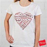 Close To Her Heart Personalized Ladies Fitted Tee - 17080-FT