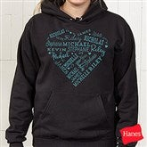 Close To Her Heart Personalized Black Hooded Sweatshirt - 17080-BHS