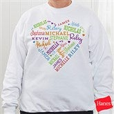 Close To Her Heart Personalized White Sweatshirt - 17080-WS