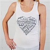 Close To Her Heart Personalized White Tank - 17080-WT