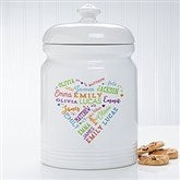 Close To Her Heart Personalized Cookie Jar - 17082