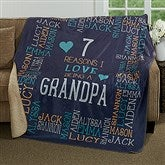 Reasons Why For Him Personalized Premium 60x80 Sherpa Blanket - 17084-L