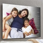 Personalized Photo Sentiments For Her ChromoLuxe® Metal Panel- 20x30 - 17091-L