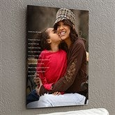 Personalized Photo Sentiments For Her ChromoLuxe® Metal Panel- 16x20 - 17091-M