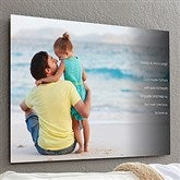 Personalized Photo Sentiments For Him ChromoLuxe® Metal Panel- 20x30 - 17092-L