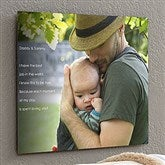 Personalized Photo Sentiments For Him ChromoLuxe® Metal Panel- 16x20 - 17092-M