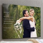 Personalized Wedding Sentiments Photo ChromoLuxe® Metal Panel- 20x30 - 17093-L