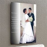 Personalized Wedding Sentiments Photo ChromoLuxe® Metal Panel- 16x20 - 17093-M