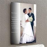 Personalized Wedding Sentiments Photo ChromaLuxe® Metal Panel- 16x20 - 17093-M