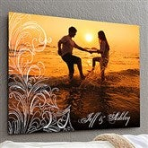 Personalized Photo Flourish ChromaLuxe® Metal Panel- 20x30 - 17094-L