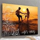 Personalized Photo Flourish ChromaLuxe® Metal Panel- 20x30 - 17094-L