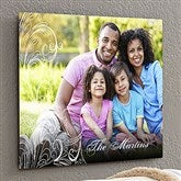 Personalized Photo Flourish ChromaLuxe® Metal Panel- 16x20 - 17094-M