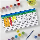 Paint It! Name Coloring Canvas Print - 5½ x 11