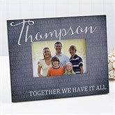 Together Forever Personalized Family Picture Frame - 17097
