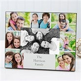 Printed Photo Collage Personalized Family Picture Frame- Horizontal - 17099-H