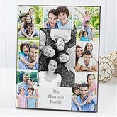 Printed Photo Collage Personalized Family Picture Frame- Vertical - 17099-V