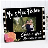 Modern Chic Personalized Wedding Picture Frame - 17107