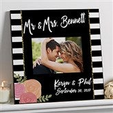Modern Chic Personalized Wedding 5x7 Wall Frame - 17108
