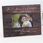 Rustic Elegance Personalized Wedding Picture Frame - 17110