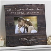 Rustic Elegance Personalized Wedding 5x7 Wall Frame - 17111