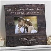 Rustic Elegance Personalized Wedding 5x7 Wall Frame - 17111