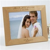 Wedding Elegance Personalized Picture Frame- 8 x 10 - 17115-L