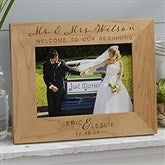 Wedding Elegance Personalized Picture Frame- 5 x 7 - 17115-M
