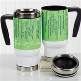 Cascading Names Personalized Commuter Travel Mug - 17131
