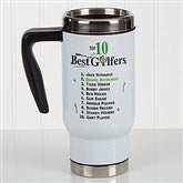 Top 10 Golfers Personalized Commuter Travel Mug - 17133