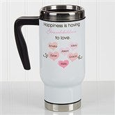 What Is Happiness? Personalized Commuter Travel Mug - 17135