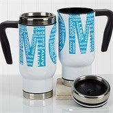 Repeating Name For Her Personalized Commuter Travel Mug - 17136