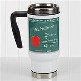 Chalkboard Teacher Personalized Commuter Travel Mug - 17139