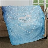 We Love You To Pieces Personalized Premium Sherpa Blanket - 17143